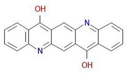 Pigment-violet-19-molekulare-struktura